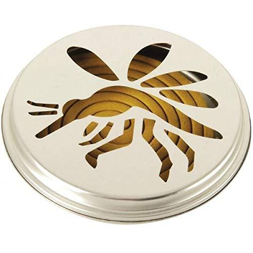 Outils et Nature Spirale Anti Moustique - kit de 10 Spirales Parfum citronnelle + Pot en métal avec Motif