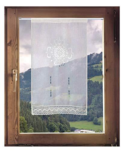 Scheibengardine von ars-vivendi Gardine mit Häkelspitze French Country 60 x 100 cm oder 90 x 100 cm (BxH)
