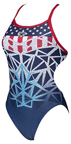 ARENA Damen Badeanzug Tulum Challenge Back, Damen, Badeanzug, 000336, 2020 Olympische Spiele USA, 32