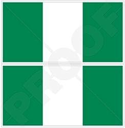 NIGERIA Nigerian Flag West Africa, African 4,4