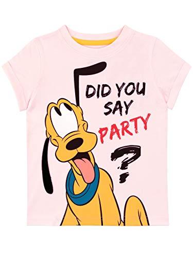 Disney Camiseta de Manga Corta para niñas Pluto Rosa 2-3 A�