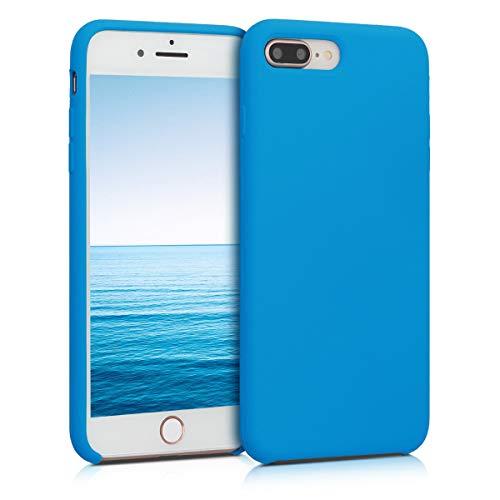 kwmobile Cover Compatibile con Apple iPhone 7 Plus / 8 Plus - Cover Custodia in Silicone TPU - Back Case Protezione Cellulare Blu Cielo