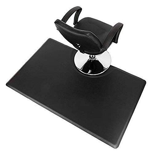 Mefeir 3' x 5' - 5/8'' Thick Salon Anti Fatigue Mat for Hair Stylist, Rectangle Comfort Barber Shop Beauty Floor Mats Under Styling Chair