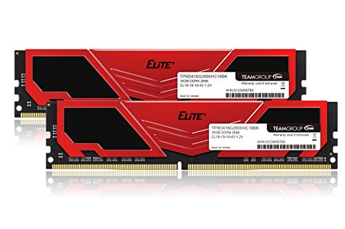 TEAM DDR4 2666Mhz PC4-21300 16GBx2枚(32GBkit)デスクトップ用 Elite Plus シリーズ 日本国内無期限保証...