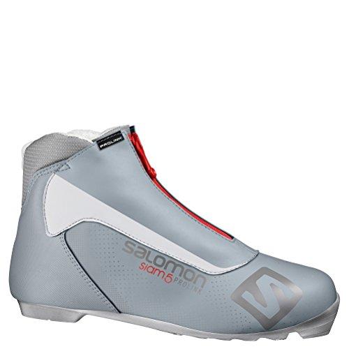 Salomon Siam 5 Prolink Womens NNN Cross Country Ski Boots - 10.0/Grey
