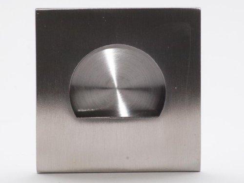 Tirador empotrado para puerta corredera (acero inoxidable mate cepillado, 59mm x 59mm): Amazon.es: Bricolaje y herramientas