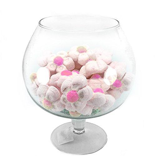 ad Centrotavola Vaso Ampolla biscottiera per confettata caramellata Porta Confetti in Vetro Trasparente (Diametro 9cm H19cm)