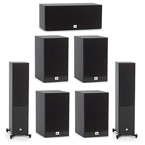 Fantastic Prices! JBL 7.0 System with 2 JBL Stage A180 Floorstanding Speakers, 1 JBL Stage A125C Cen...
