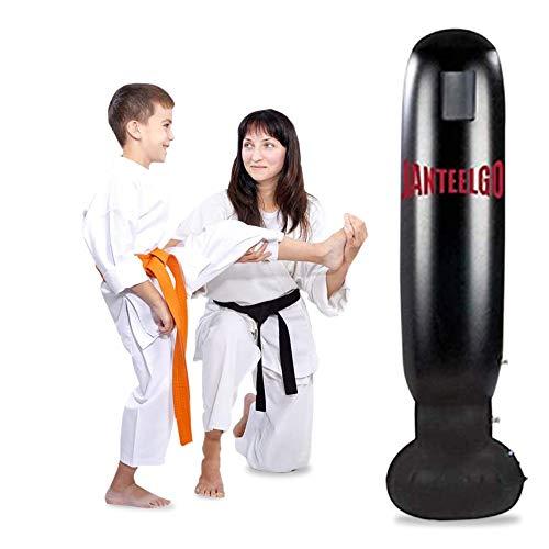 Saco de boxeo, JanTeelGO saco de boxeo de pie 160c, saco boxeo niños Independiente para Adultos, Practicando Karate, Taekwondo, Entrenamiento de Patadas de descompresión