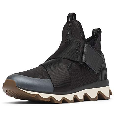 Sorel Women's Kinetic Sneak Boots, Black White, 38.5