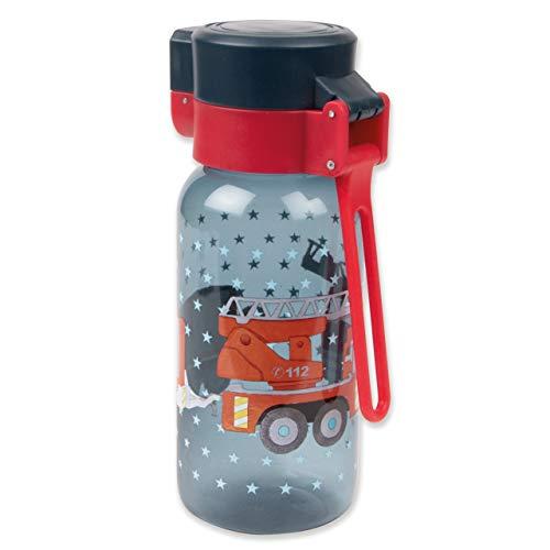 TapirElla Hochwertige Trinkflasche Feuerwehr, aus Tritan, BPA frei, 400 ml