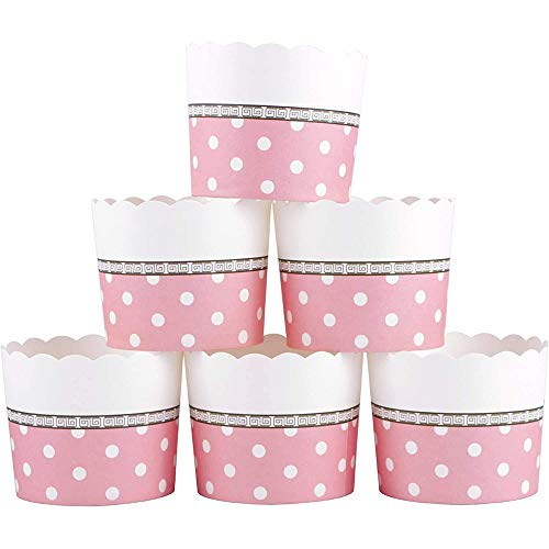 Webake Large Paper Cake Baking Cup Cupcake Muffin Cases, Set of 25 Pink Cupcake Liners for Valentine's Day, Wedding
