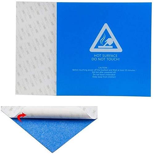 JJDSN 3D-Druckerzubehör, 220 220 0,5 mm blau gefrostetes beheiztes Bettaufkleber-Bauplattenband für 3D-Druckerdrucker