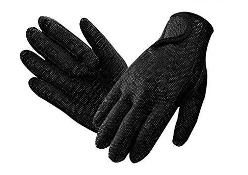 PURFUN 1.5mm Neoprene Diving Gloves for Men Women Flexible Thermal Full Finger Wetsuit Gloves for...