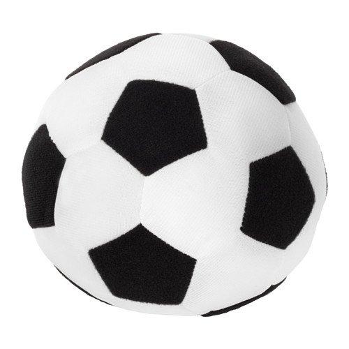 Unbekannt IKEA Mini-Stoffball Sparka Softball mit 13cm Durchmesser - Fußball in SCHWARZ-Weiss - waschbar - Keine Altersbeschränkung