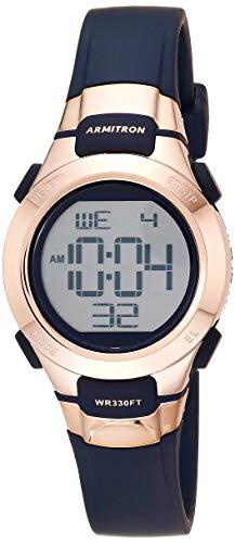 Armitron Sport Women's Quartz Sport Watch with Resin Strap, Blue, 11.7 (Model: 45/7012RNV)