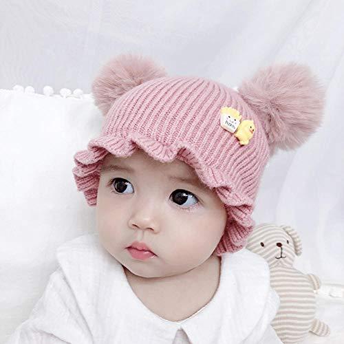 PsWzyze Baby Mütze Stricken warme Babypullover Kindermütze Pink