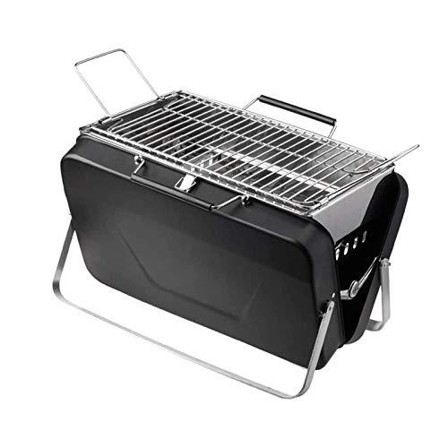 HYDDG Barbacoa plegable de acero inoxidable portátil de carbón para camping, viajes, jardín al aire libre
