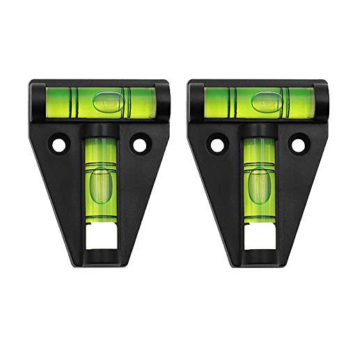 FLAWLESSSOT 2 Stück Kreuzwasserwaage Klein, T-Type Kreuzwasserwaage Magnetisch für Wohnmobil und Wohnwagen, Mini Wasserwaage Wasserwaage Klein mit Horizontal- und Vertikallibelle, Messung Mehrzweck