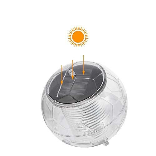 Waroomss - Luz Solar de Estanque Flotante, impermeabiliza luz de Bola de suspensión Solar de luz de Piscina, LED con plástico ABS para Fuente, jardín, Piscina