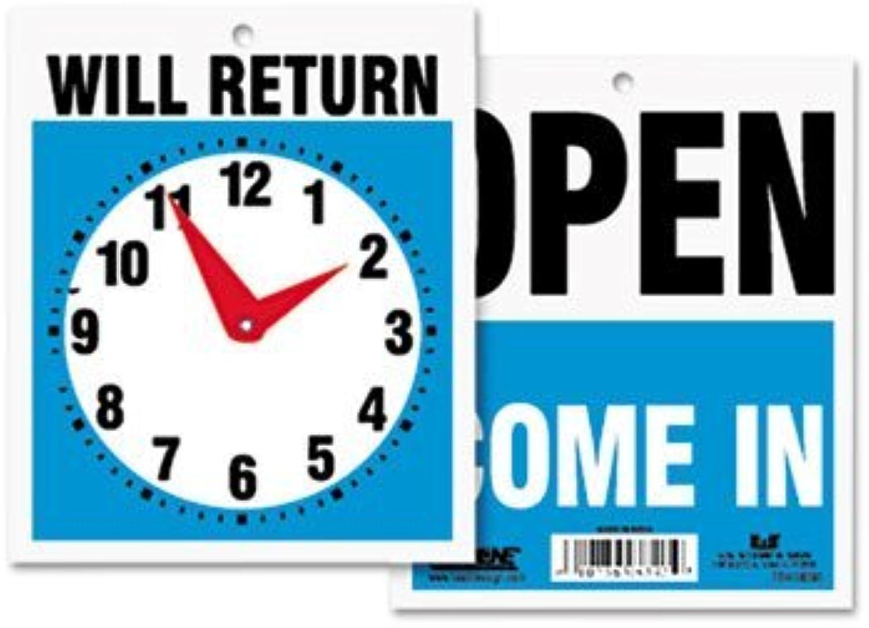 venta con alto descuento Double-Sided Open Will Will Will Return Sign w Clock Hands, Plastic, 7 1 2 x 9, Sold as 1 Each by U. S. Stamp & Sign  servicio considerado