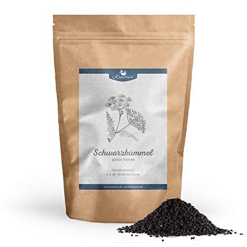Krauterie Schwarzkümmel-Samen ganz in Spitzenqualität für Pferde & Hunde, frei von Zusätzen (500 g)
