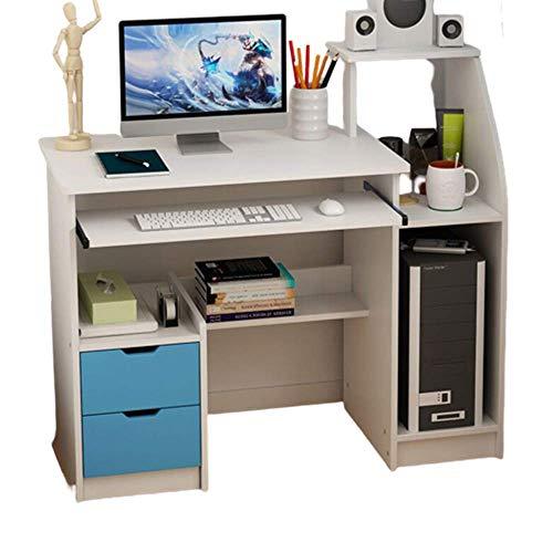 Computer Desk with Keyboard Tray - 40-inch Laptop Desk with Storage Shelves, Gaming Desks Teen Student Dorm Study Desks, Fits Home Office & Online Studying