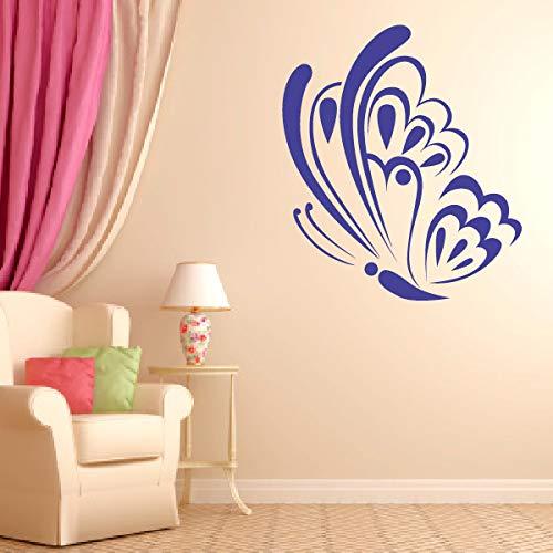 sanzangtang Heißer Schmetterling Wandaufkleber Wohnzimmer Abnehmbare Vinyl Benutzerdefinierte Farbe Erhältlich Kinderzimmer Wanddekoration 56X65 cm