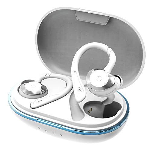 dyplay Sports Buds Bluetooth Kopfhörer Sport in Ear Ohrhörer Wasserdicht IPX7 Bluetooth 5.0 Kabellose Ohrhörer Joggen/Laufen Automatische Koppelung Sportkopfhörer 40H Spielzeit für iOS Android