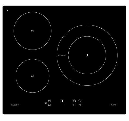 Placa inducción DAEWOO KCI630S00 3 zonas negro