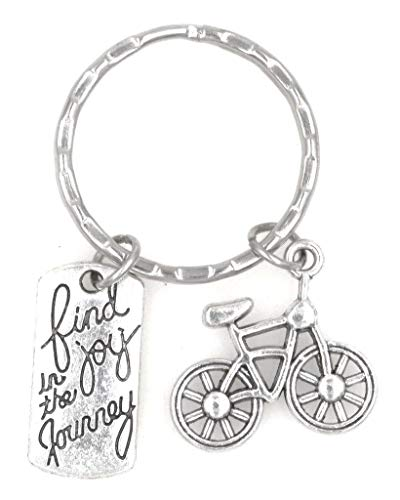 It's All About...You! Find Joy in The Journey Cyclist Race Tournament Participant Bicycle Keychain 105J