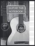 Cuaderno de notas de guitarra: Diario de papel de partituras