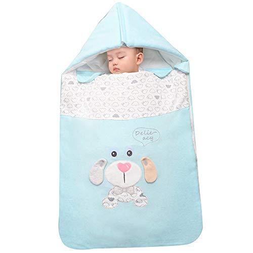 Saco de dormir para bebés, manta de diadema para recién nacidos, envoltura de Swaddle para bebés, saco de dormir para bebés envuelto Bolsa de dormir de algodón grueso de otoño invierno (0-12 meses )