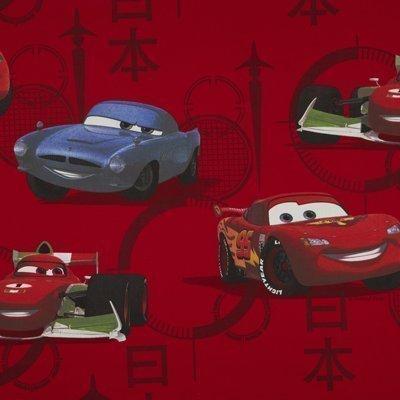 DELUXE Disney Pixar Cars 1 stuk XXL kant-en-klaar sjaal/gordijn/gordijn L 250cm x B 140cm ROOD SUN/DIM OUT effect NIEUW