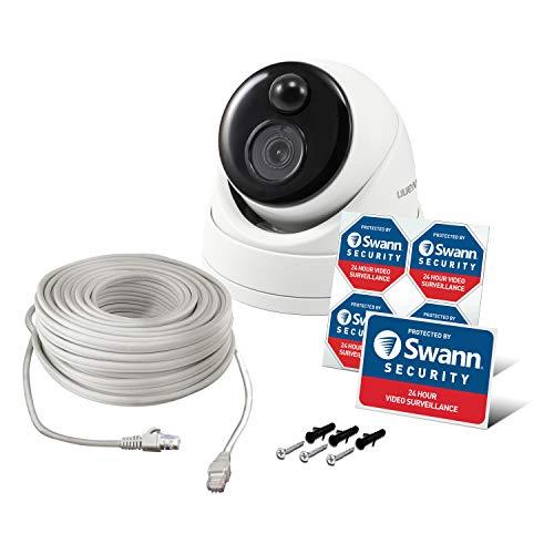 Cámara de Seguridad Swann con Sensor térmico PIR: Cámara Tipo Bala 4K Ultra HD con visión Nocturna por Infrarrojos - NHD-886MSD