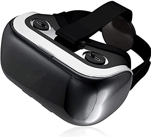 HANHANDIAN VRアイパッドアクセサリーフェイスVRヘッドセット抗ブルーライトレンズ、ステレオヘッドセットなど、等の長さなどのすべてのスマートフォンのための仮想現実のメガネ(黒)