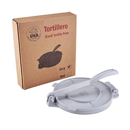 ARC USA Tortilla-Presse, Aluminium, langlebige Tortilla, schnell einfach für leckere Tortillas für jedes Rezept von 15,2 cm, 20,3 cm 8
