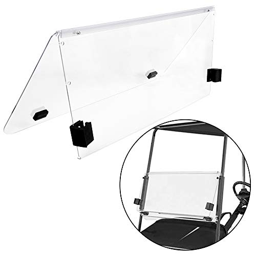 ECOTRIC Clear Fold Down Windshield Compatible with 2000-Up Club Car DS Impact Resistant Windshield for DS Golf Cart