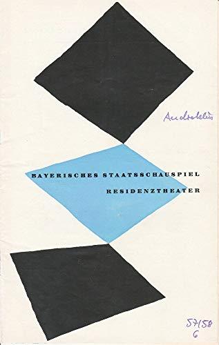 Programmheft Androklus und der Löwe von Bernard Shaw 2. April 1958 Residenztheater Spielzeit 1957 / 58 Heft 6