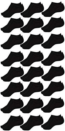 Korte Sokken (24 Paar/Pairs) Enkelsokken Kuitsokken Short Socks Unisex Katoenen/Kotton Unisex (X24 Black/Zwart, 40-46)