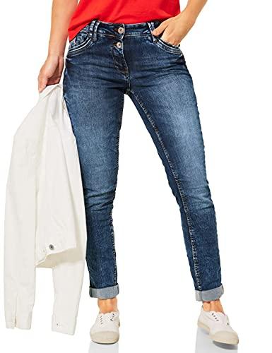 CECIL Damen Scarlett Jeans, mid Blue wash, W36/L30