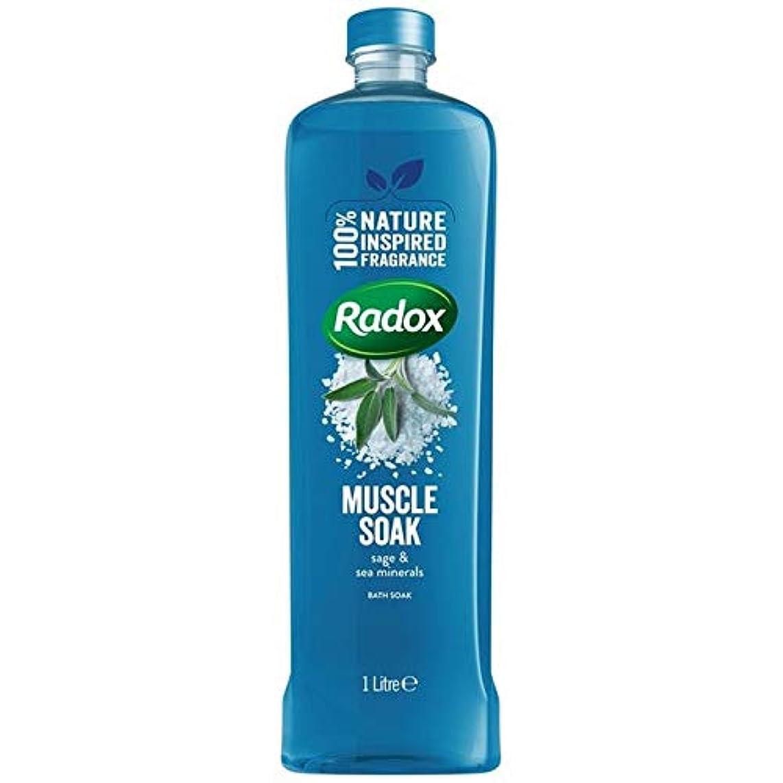 指魔女古代[Radox] Radox筋はセージ&海のミネラルの1リットルに浸し風呂につかります - Radox Muscle Soak Bath Soak with Sage & Sea Minerals 1L [並行輸入品]