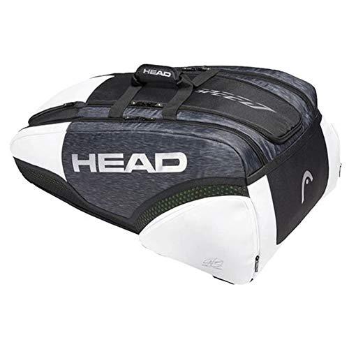 HEAD Djokovic 12R Monstercombi - Bolsa de tenis unisex, color negro