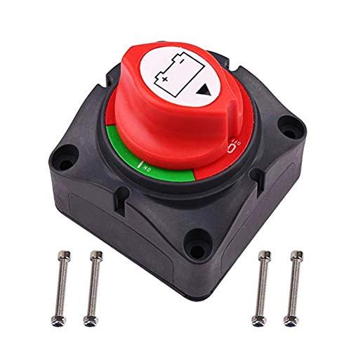 TXYFYP Batterie-trennschalter,300A Batterie-Trennschalter Hauptstromabschaltung Kill-Schalter Wasserdichter Schiffsschalter für ATV-Fahrzeuge von Wohnmobilen mit 4 Befestigungsschrauben
