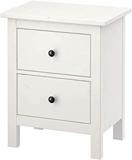IKEA ASIA 503.742 IKEA HEMNES Chest of 2 drawers, white stain, Stain