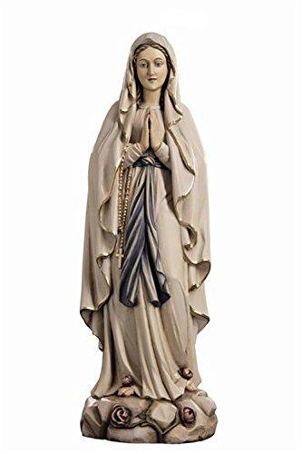 Holzfigur Madonna von Lourdes coloriert - Schnitzereien Dolfi