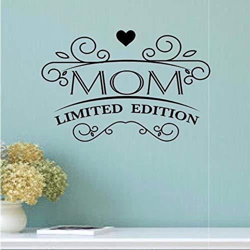 Mamá Edición limitada de vinilo Regalo del día de la madre Decoración de la sala de estar para el hogar Diseño de pared Arte mural Mural 86 * 57 cm