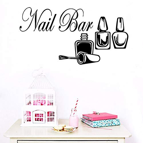 UDPBH Pegatinas de pared para salón de uñas, decoración de bar, decoración de bar, 43 cm x 81 cm