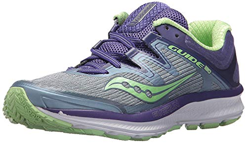 Saucony Women's Guide ISO Running Shoe, Fog/Purple, 6 Medium US
