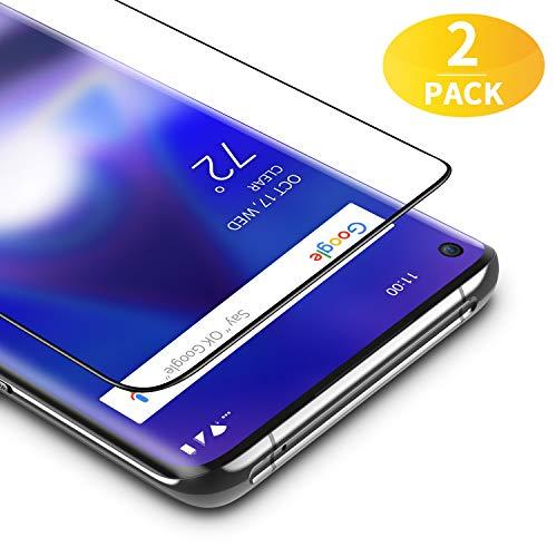 BANNIO für Panzerglas für OnePlus 8 Pro,2 Stück 3D Full Screen Panzerglasfolie Schutzfolie für OnePlus 8 Pro,9H Festigkeit Bildschirmschutzfolie,Blasenfrei,Schwarz